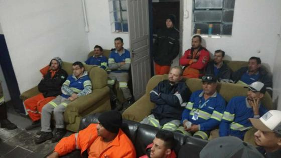 Reunião do SINDIFER no pernoite de Banhado (Serra do Mar - Curitiba - Morretes)